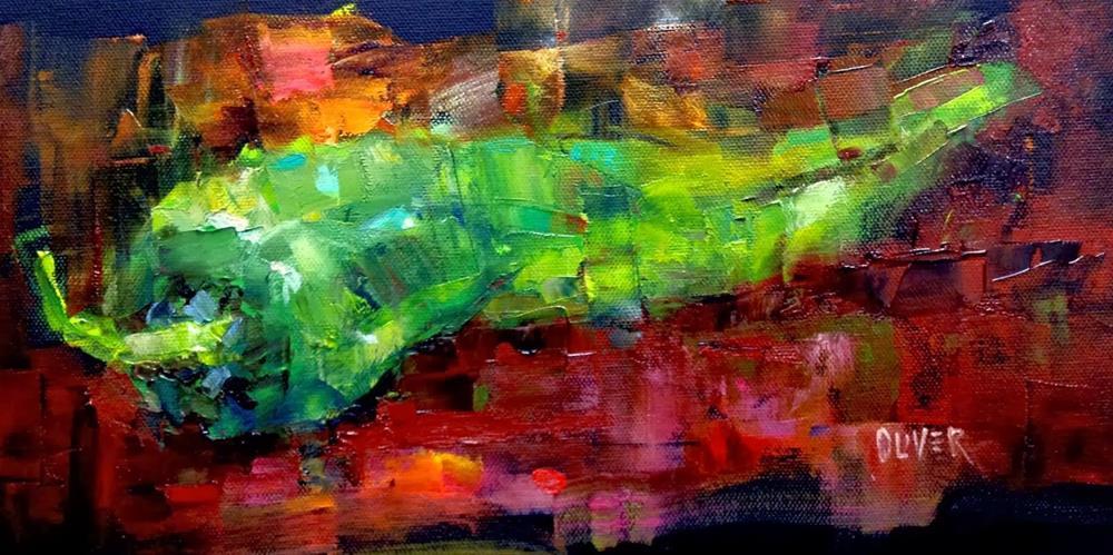 """""""Workshop Demo - Chili"""" original fine art by Julie Ford Oliver"""