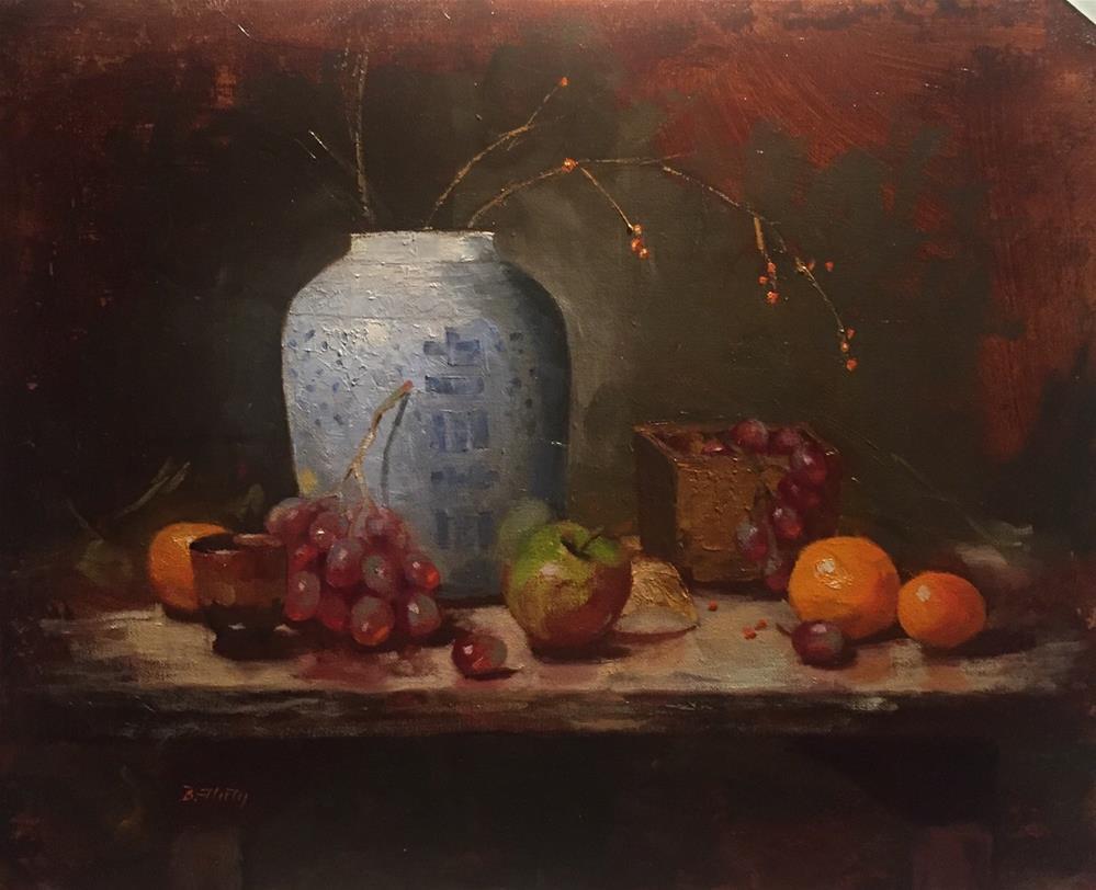"""Vessels and Fruits"" original fine art by Barbara Fluty"