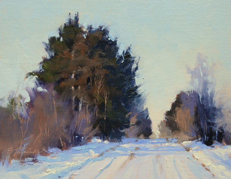 """Middle of the Road"" original fine art by Barbara Jaenicke"