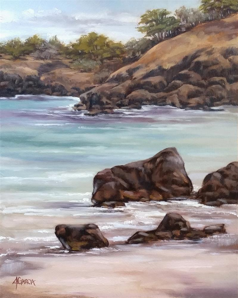 """69s Shoreline"" original fine art by Jeannie Garcia"