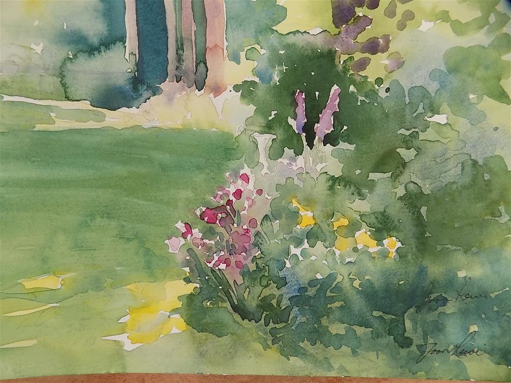 """Bacckyard Garden"" original fine art by Joan Reive"
