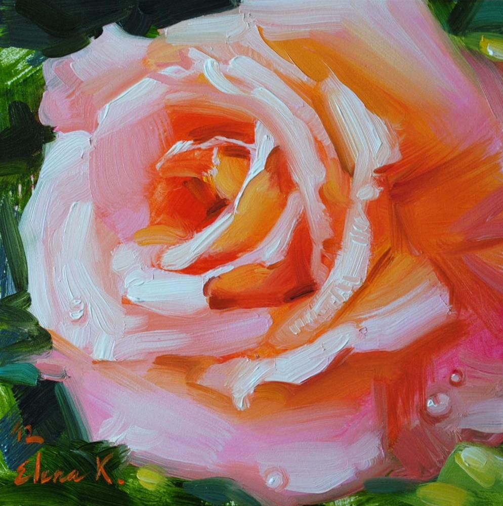 """Afternoon Rose"" original fine art by Elena Katsyura"