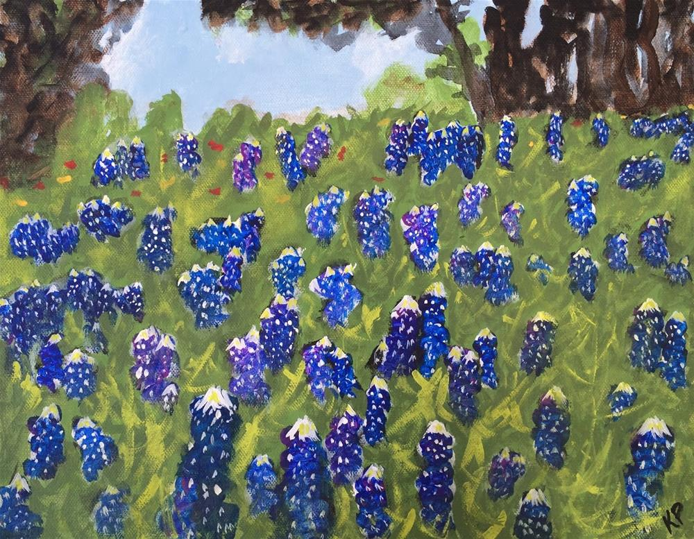 """Field of Blue"" original fine art by Kali Parsons"