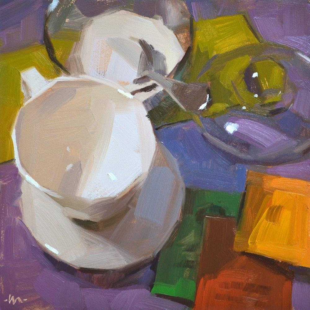 """Tea To Be"" original fine art by Carol Marine"