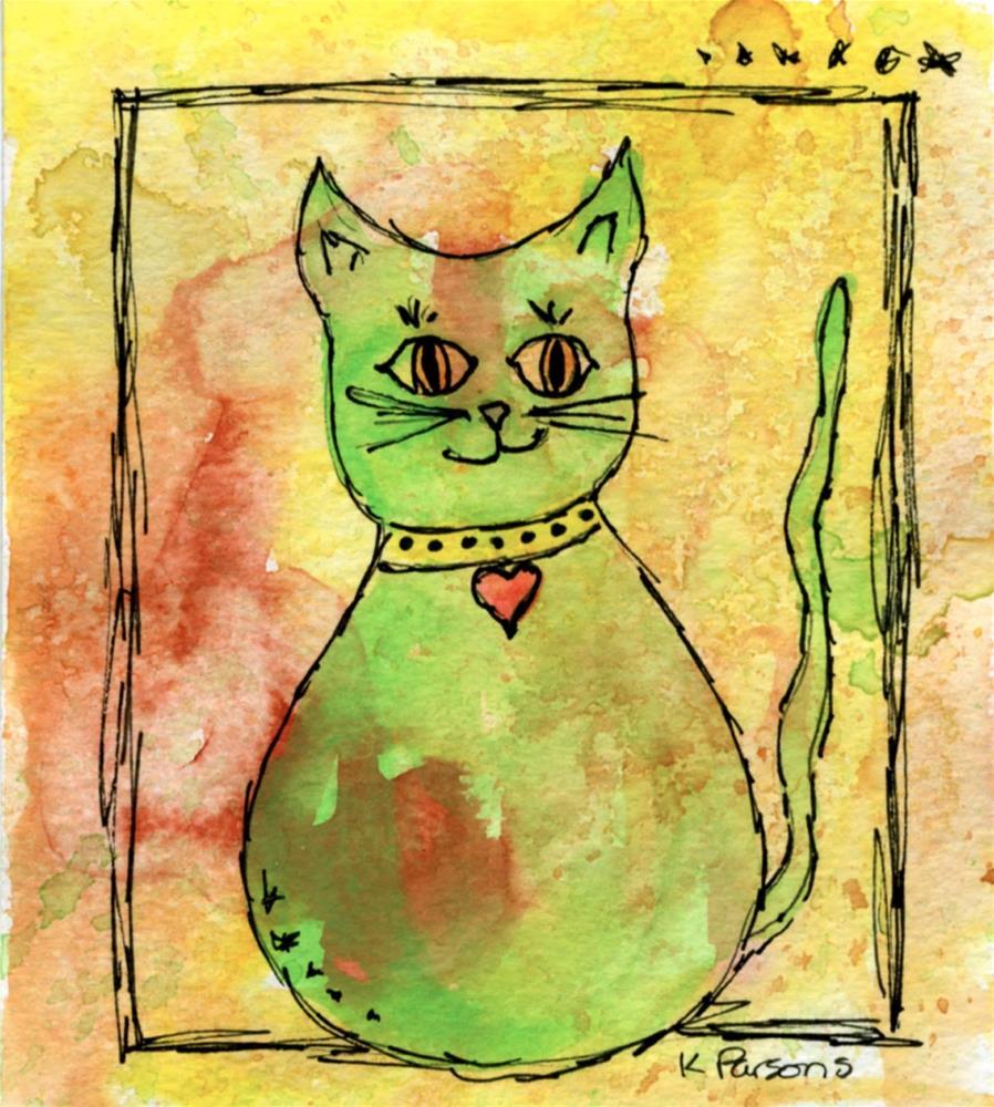 """""""Feline Love"""" original fine art by Kali Parsons"""