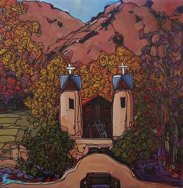 """113 CHIMAYO VALLEY"" original fine art by Dee Sanchez"
