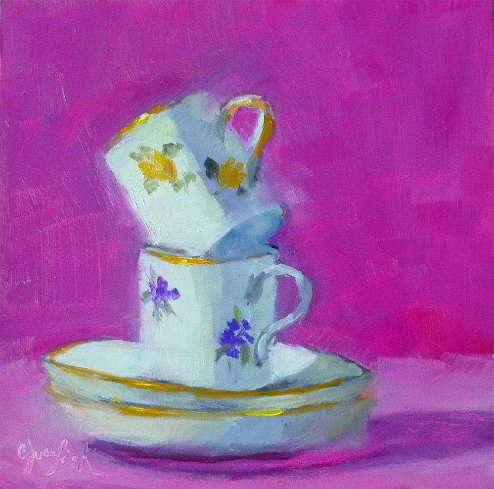 """Tiny Cups"" original fine art by Carol Josefiak"