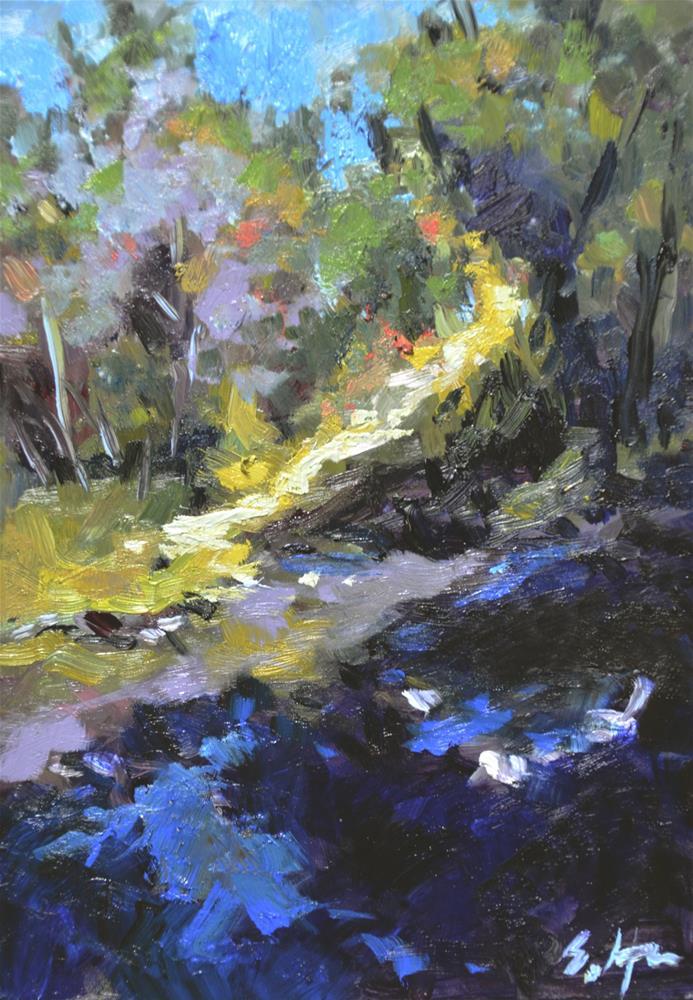 """Thicket Trail"" original fine art by Susan Hughes"