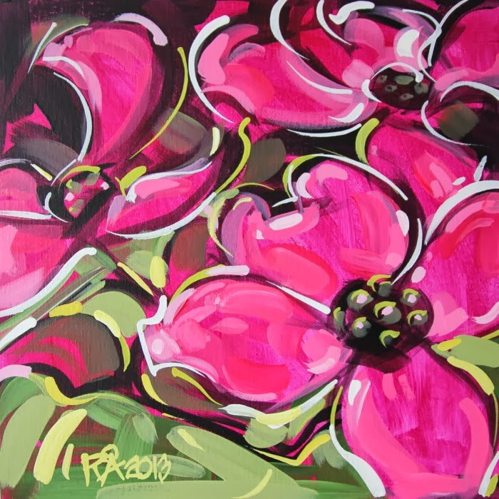 """Flower Abstraction 46"" original fine art by Roger Akesson"
