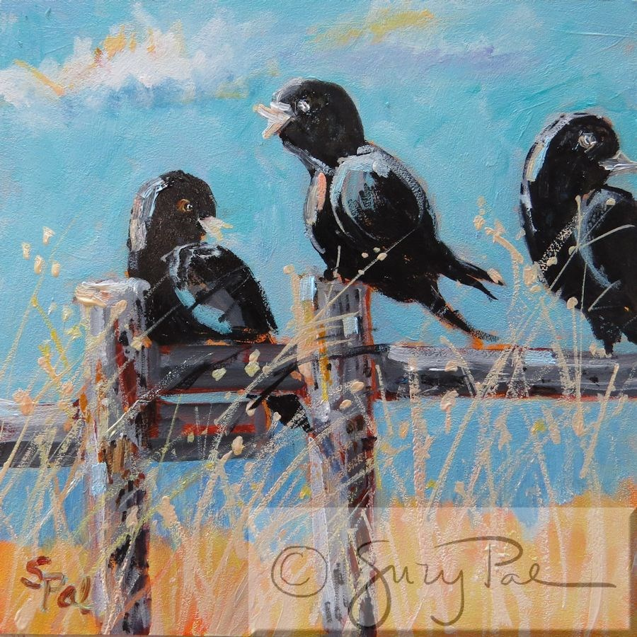 """He said WHAT?"" original fine art by Suzy 'Pal' Powell"