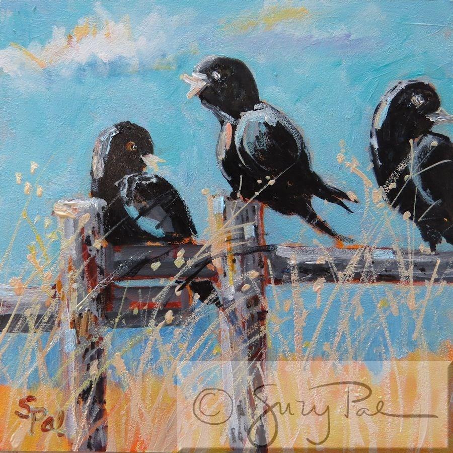 """He said WHAT?"" original fine art by Suzy 'Pal' Powell"