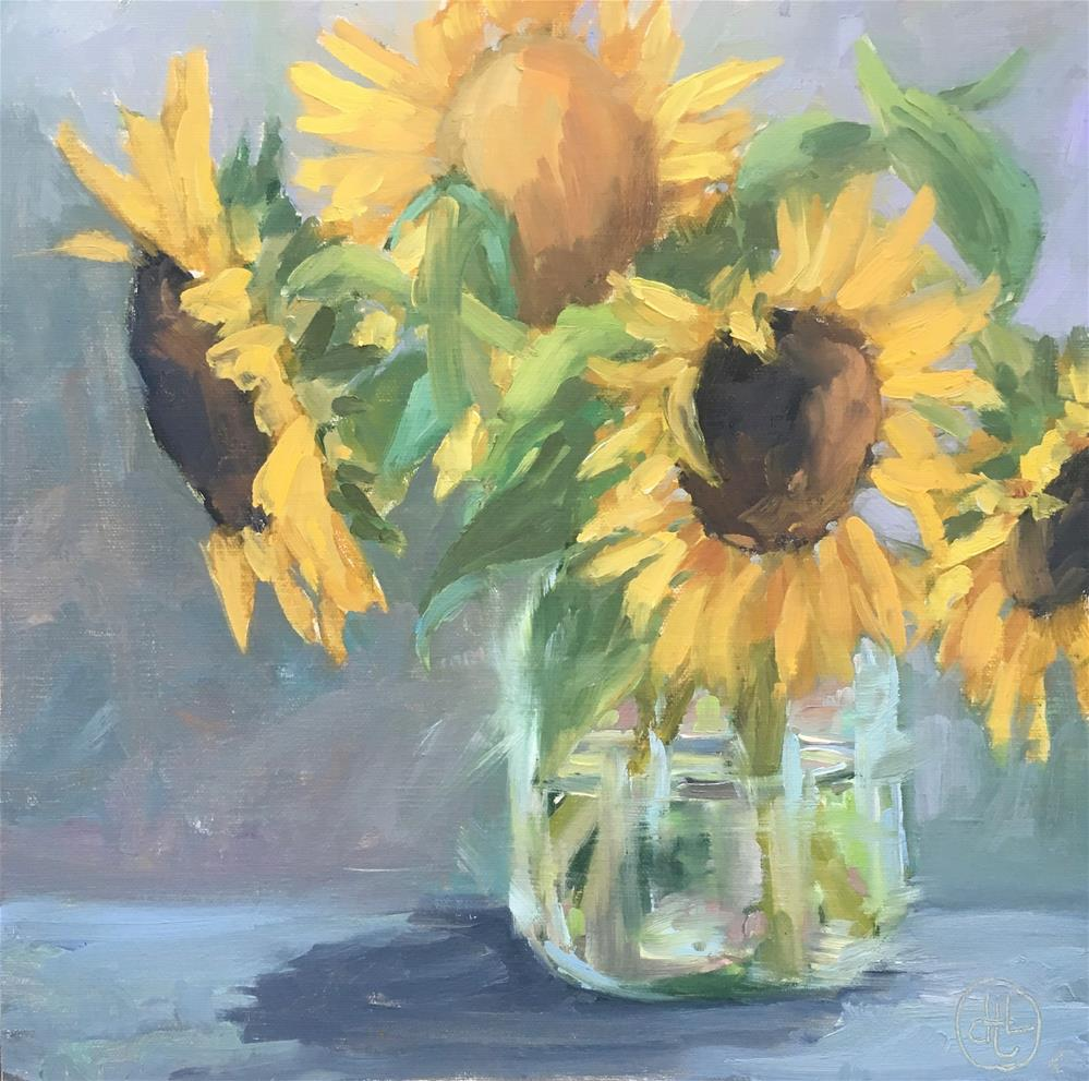"""you are my sunshine"" original fine art by Dottie  T  Leatherwood"