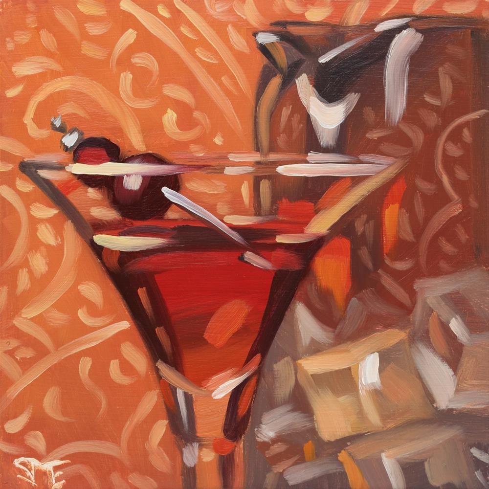 """Manhattans by the Pitcher Study"" original fine art by Sheila Evans"
