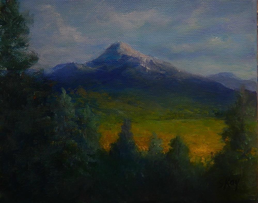"""San Francicso Peak"" original fine art by Sharon Kay Baker"