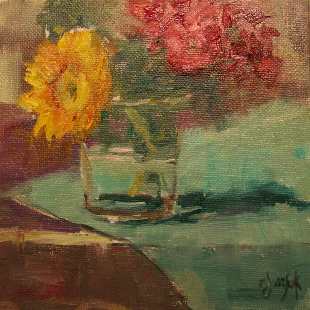 """Small Bouquet"" original fine art by Carol Josefiak"