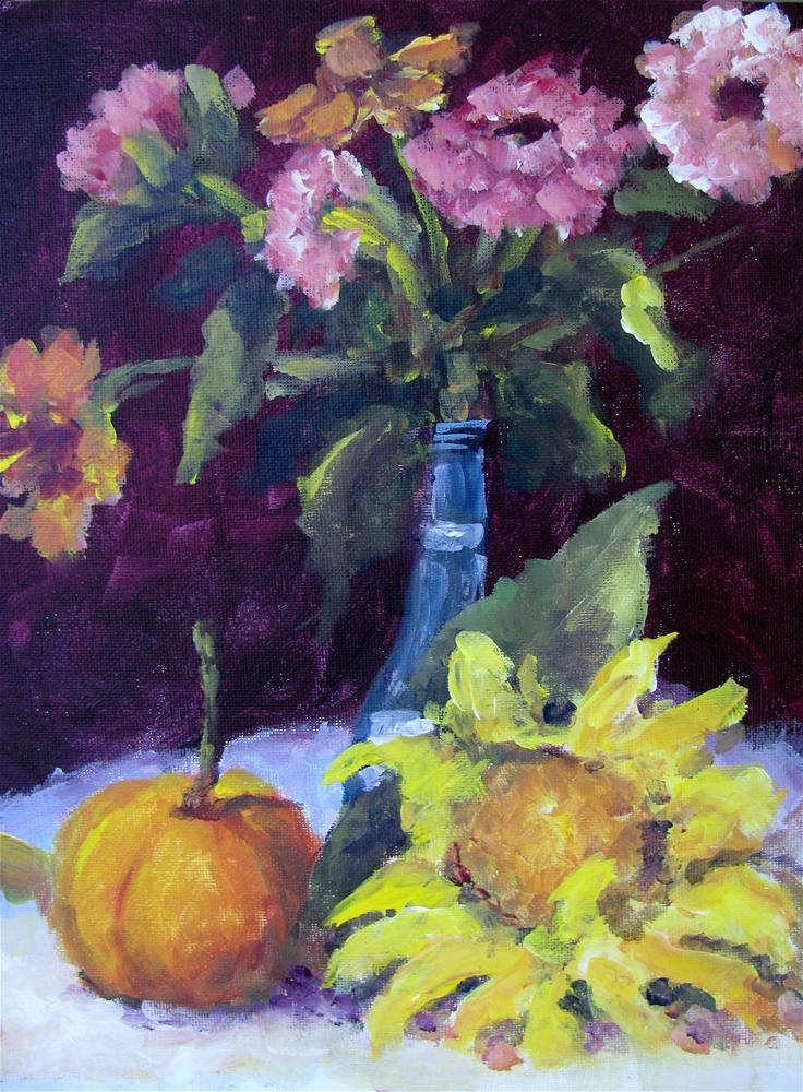 """Still Life with Sunflower"" original fine art by Susan Elizabeth Jones"