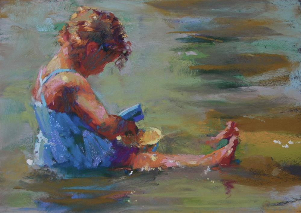 """Yellow Bucket"" original fine art by Margaret Dyer"