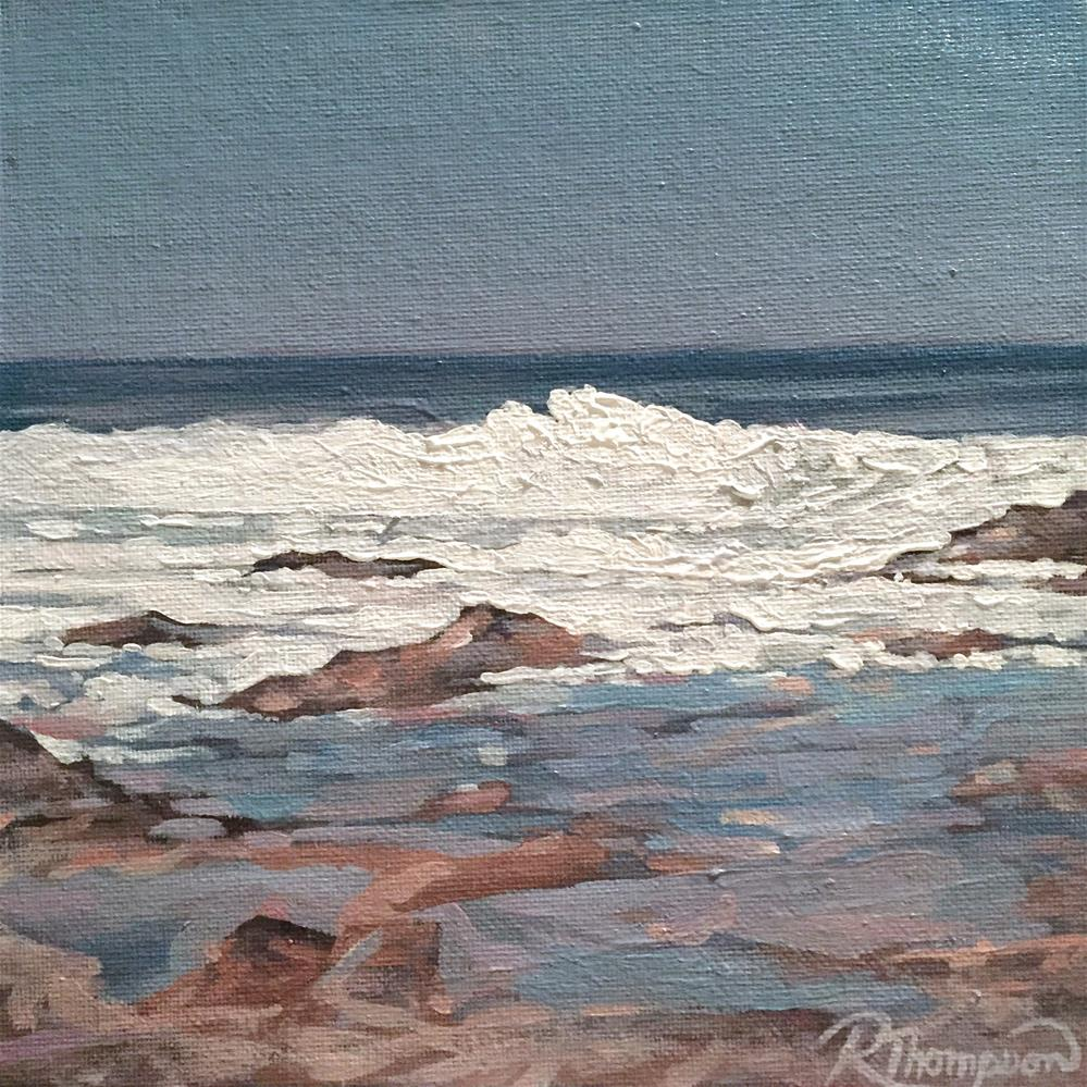 """Waves II"" original fine art by Rachel Thompson"
