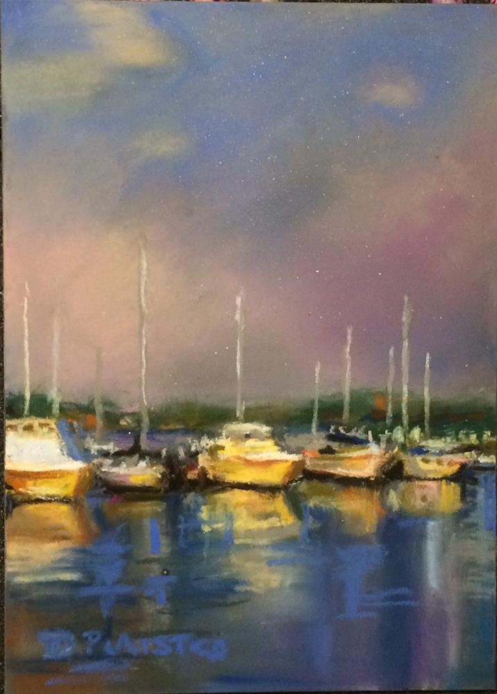 """Marina Sunrise"" original fine art by Diane Plaisted"