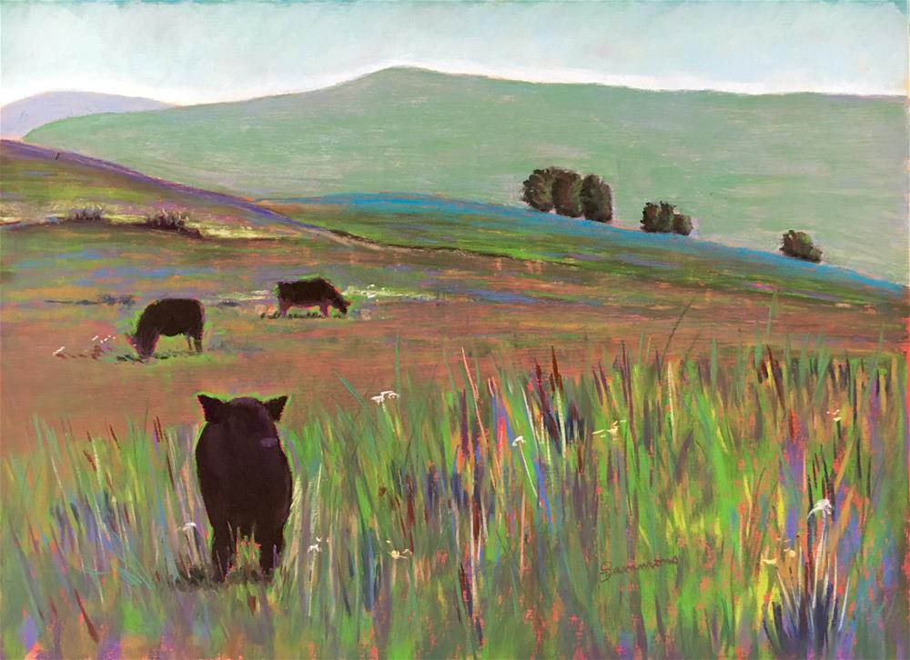"""Shawangunk Cows"" original fine art by Laurie Sammons"