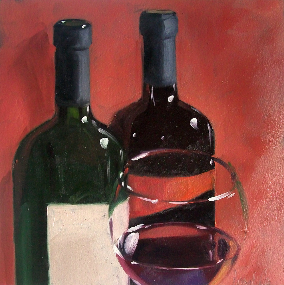 """wino12"" original fine art by Brandi Bowman"