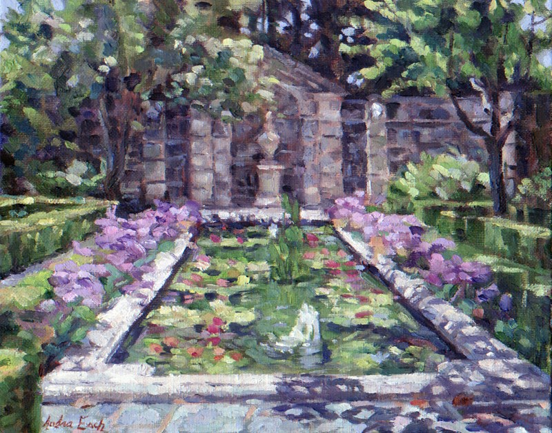 """Greystone Reflection Pond"" original fine art by Audra Esch"