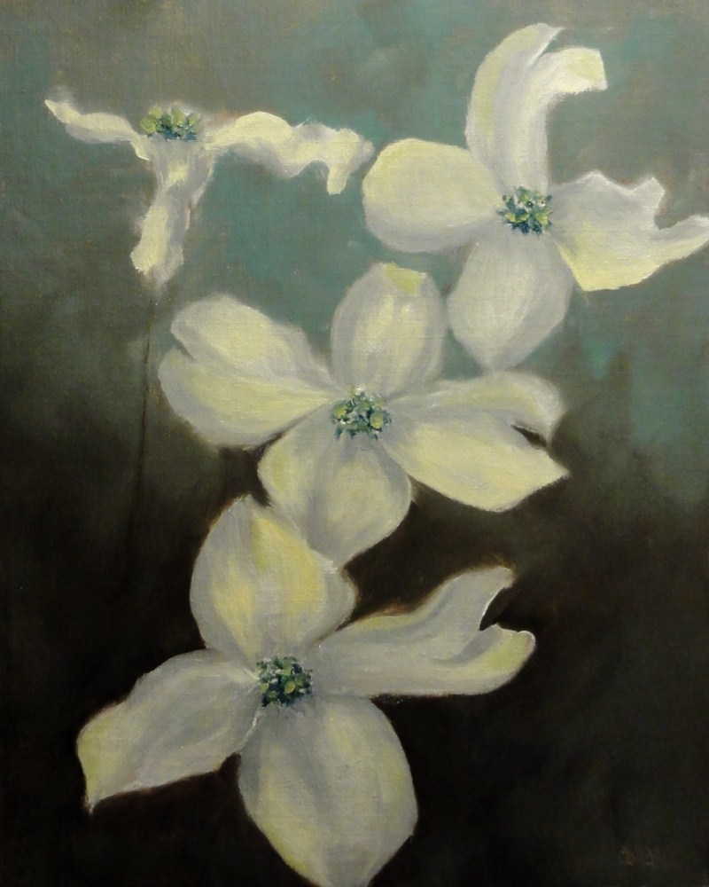 """Dogwood"" original fine art by Dalan Wells"