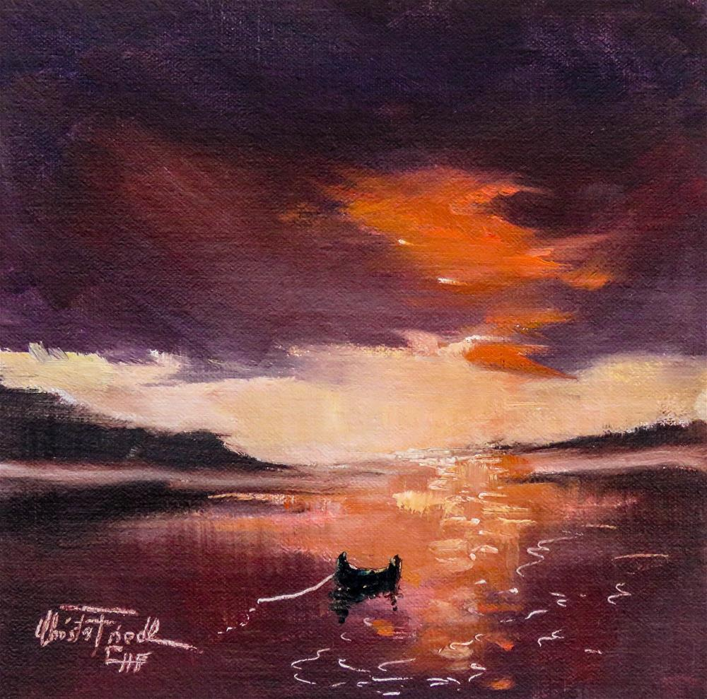 """Quiet of the evening"" original fine art by Christa Friedl"