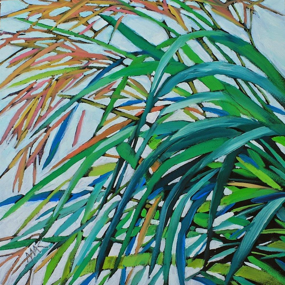 """Designer Grass"" original fine art by Mary Anne Cary"