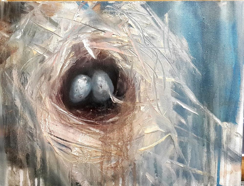 """Nesting in Clarence"" original fine art by Rentia Coetzee"