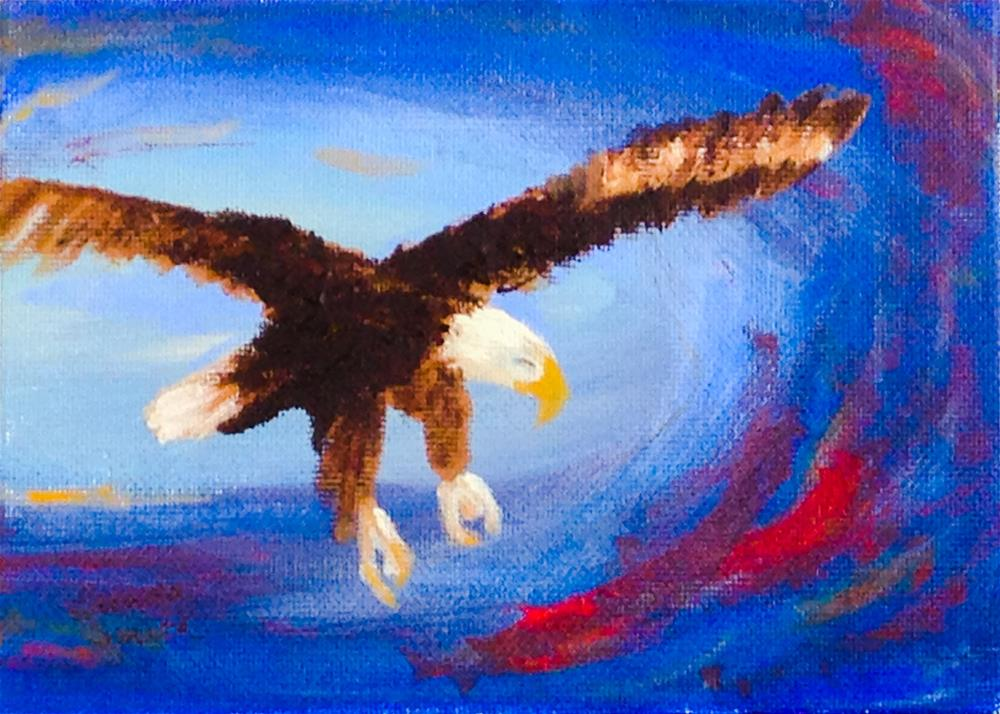 """American Spirit"" original fine art by Brenda Smith"