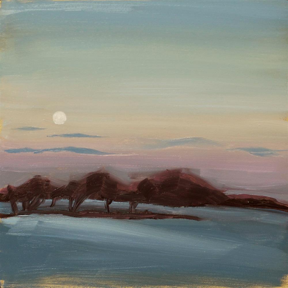 """Setting Moon"" original fine art by Heather Bullach"