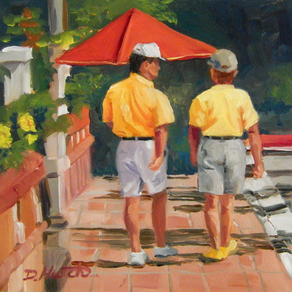 """Talking the Walk"" original fine art by Diane Hutchinson"