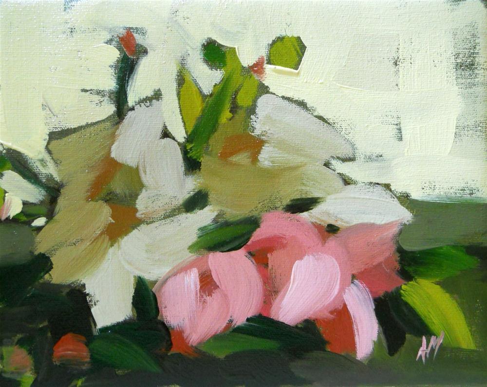 """cut peonies"" original fine art by Angela Moulton"
