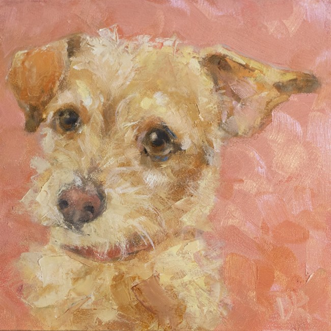 """Dog Days of Summer - JoJo - Terrier paintng by Deb Kirkeeide"" original fine art by Deb Kirkeeide"