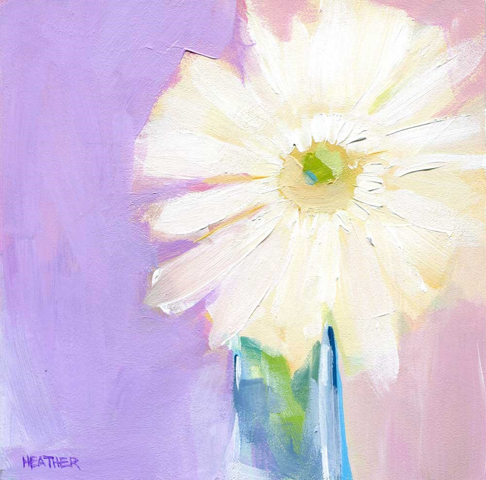 """Soft Spoken"" original fine art by Heather Bennett"