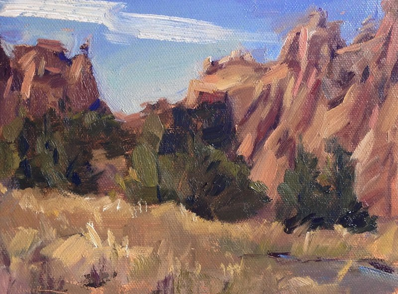 """Smith Rock Pines"" original fine art by Sarah Sedwick"
