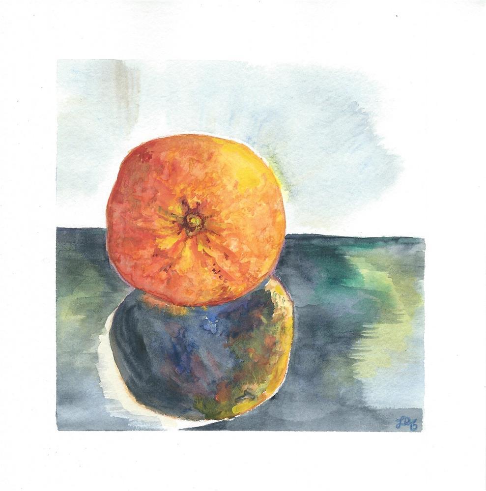 """""""Orange Reflection"""" original fine art by Laura Denning"""
