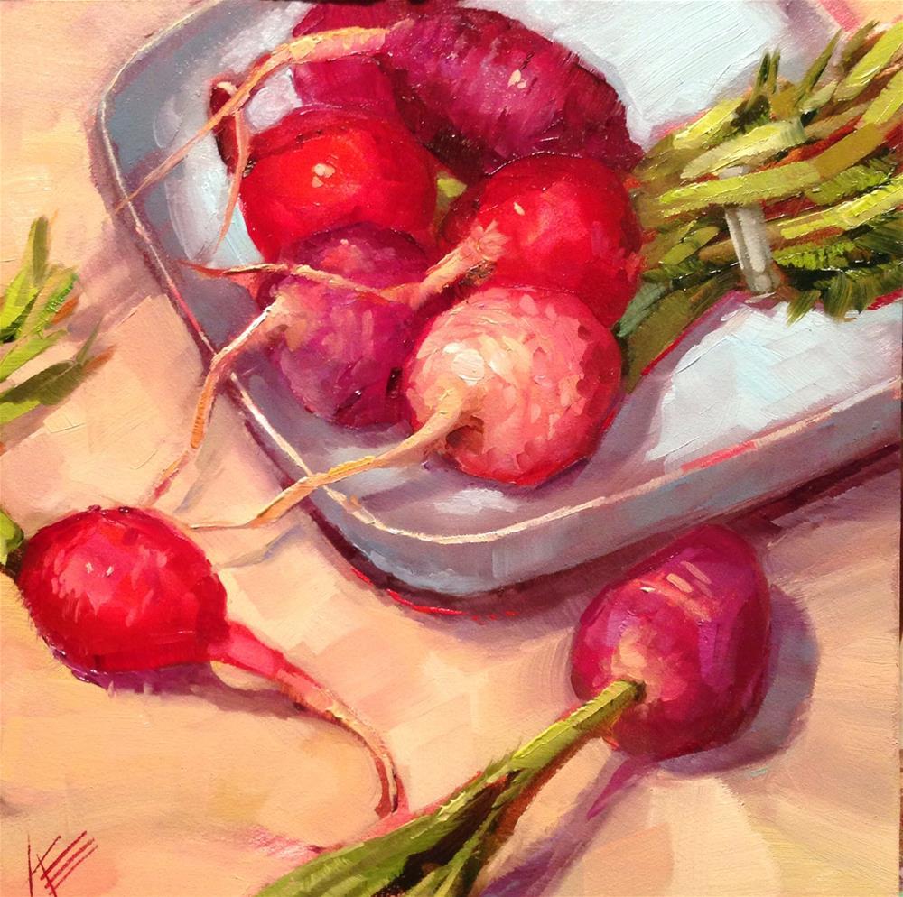 """Radishes"" original fine art by Krista Eaton"