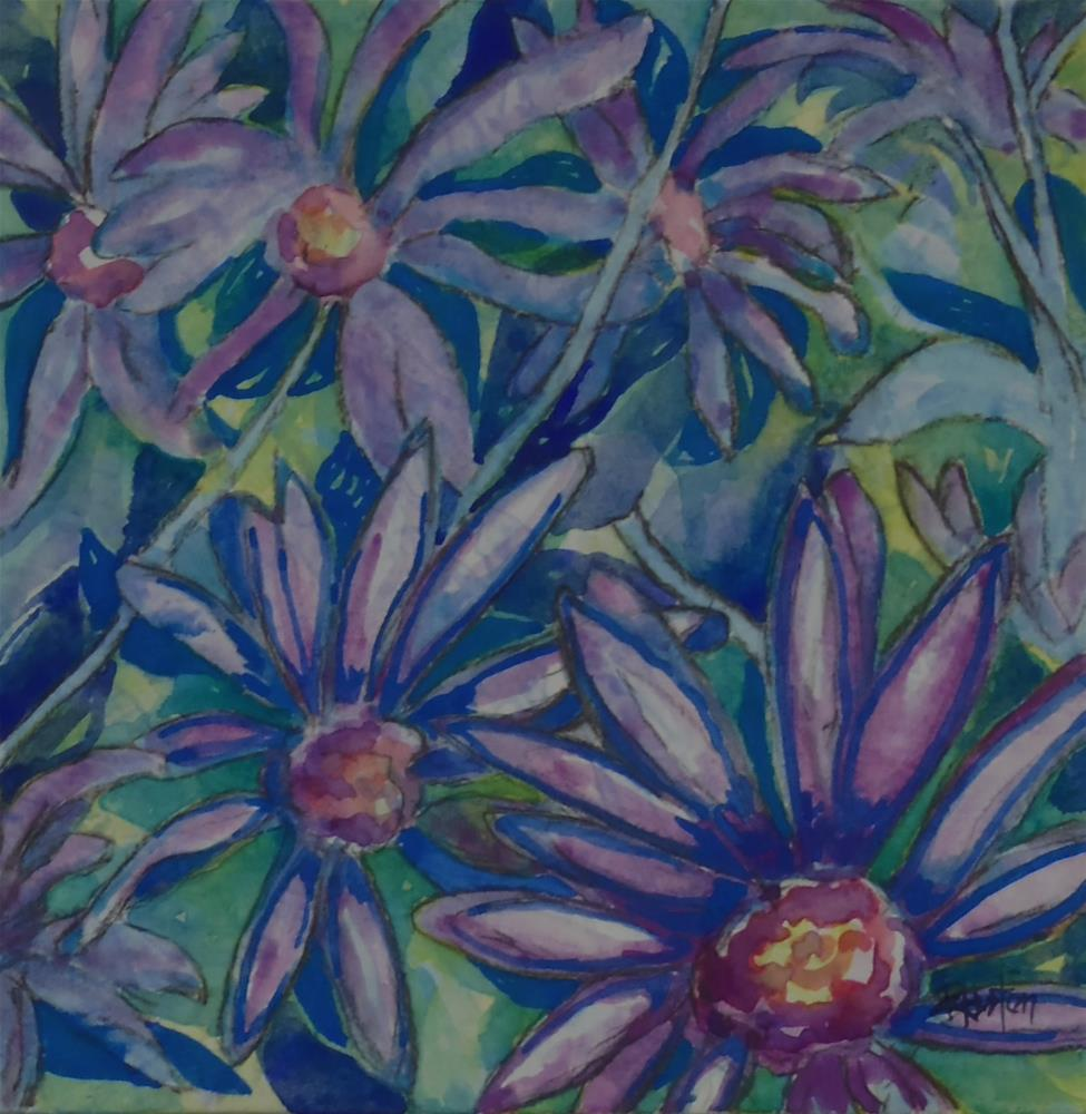 """Botanical Garden 24... Georgia Aster"" original fine art by Richard Huston"