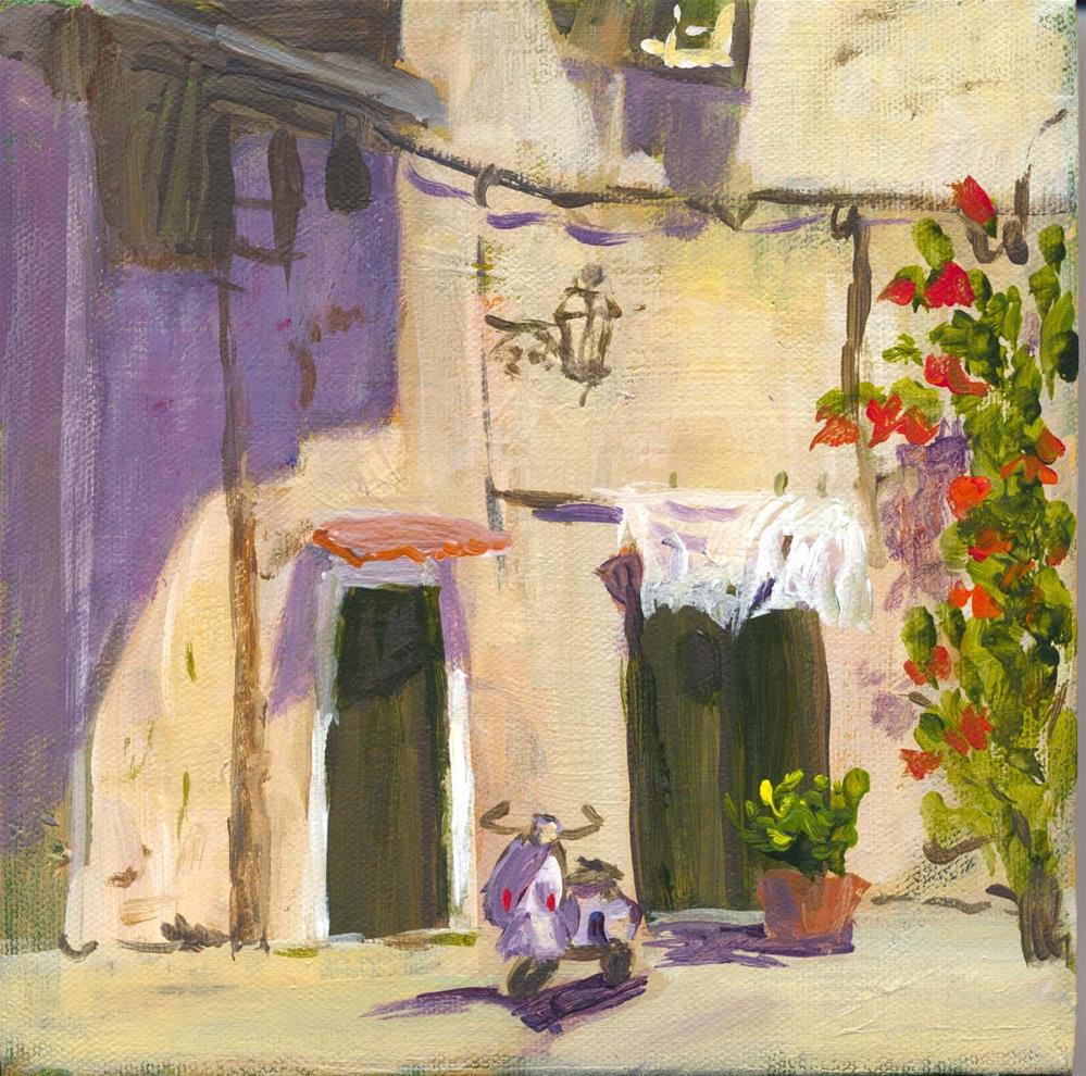 """Lonely Scooter"" original fine art by Carol Cochran"