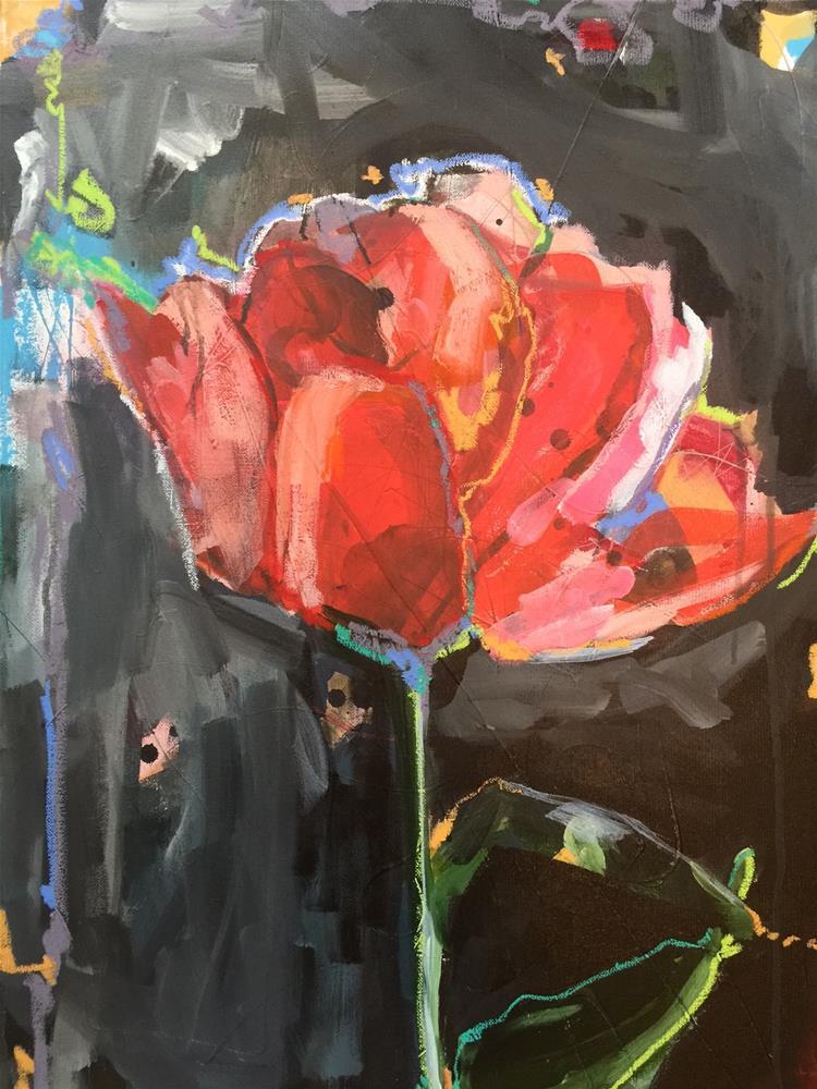 """479 And Stay a Rose"" original fine art by Jenny Doh"