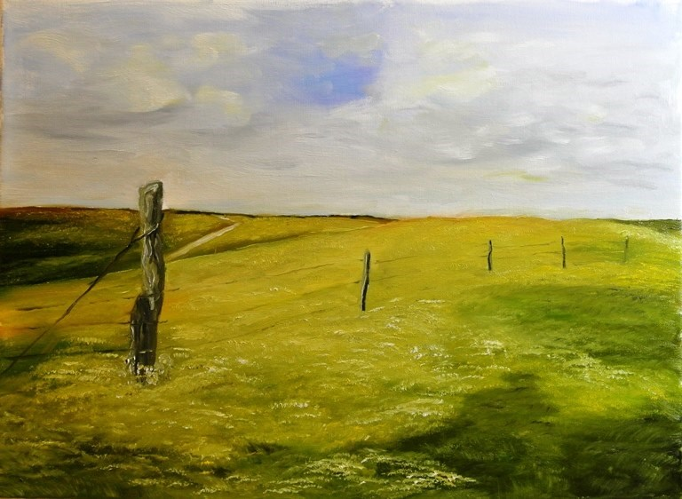 """Tall Grass Prairie"" original fine art by Mary Datum"