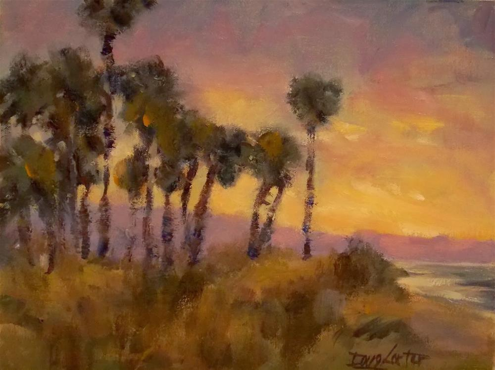 """PALM IN PARADISE"" original fine art by Doug Carter"