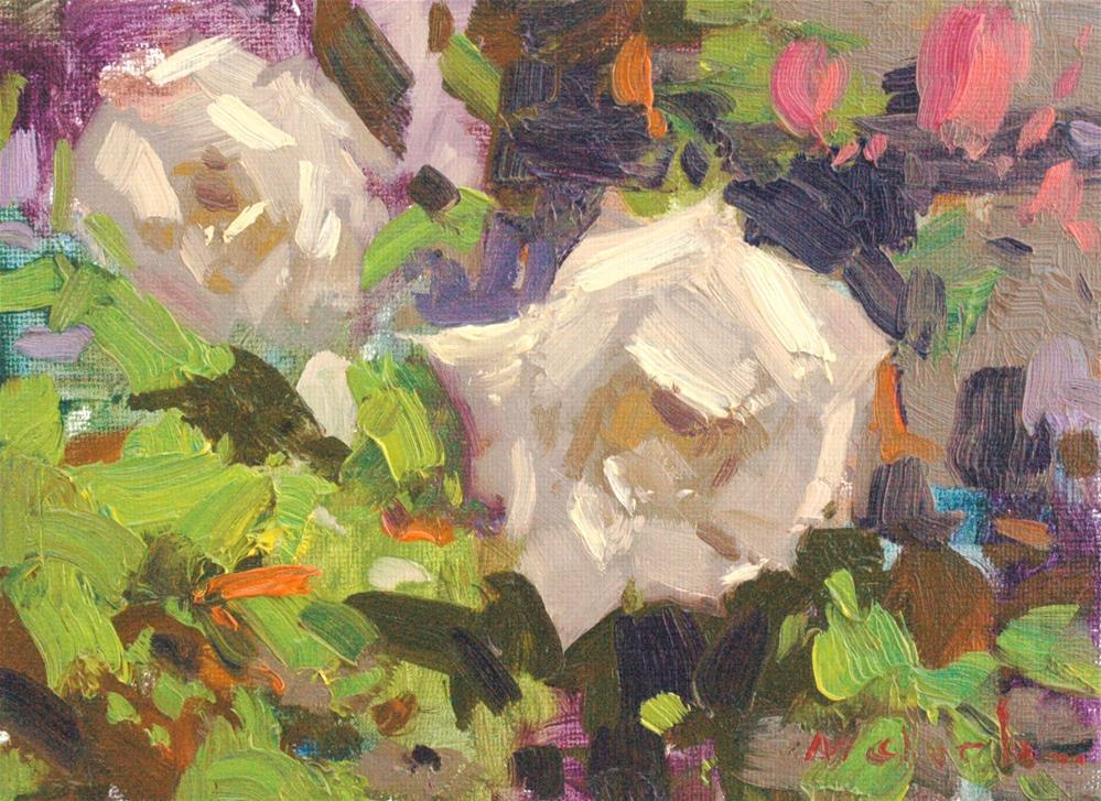 """Rose Study"" original fine art by michael clark"