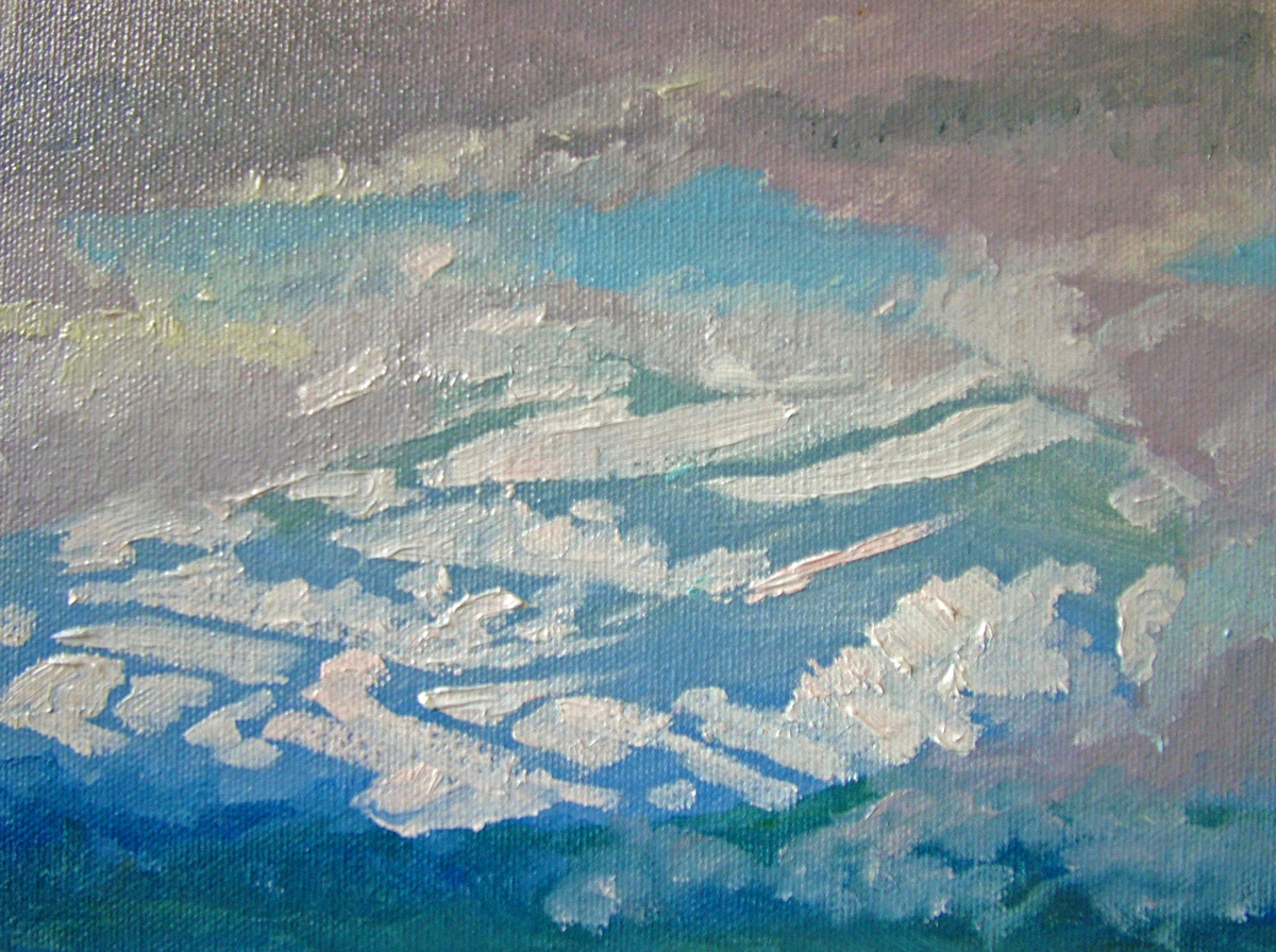 """Snow through the Clouds"" original fine art by Nancy Paris Pruden"