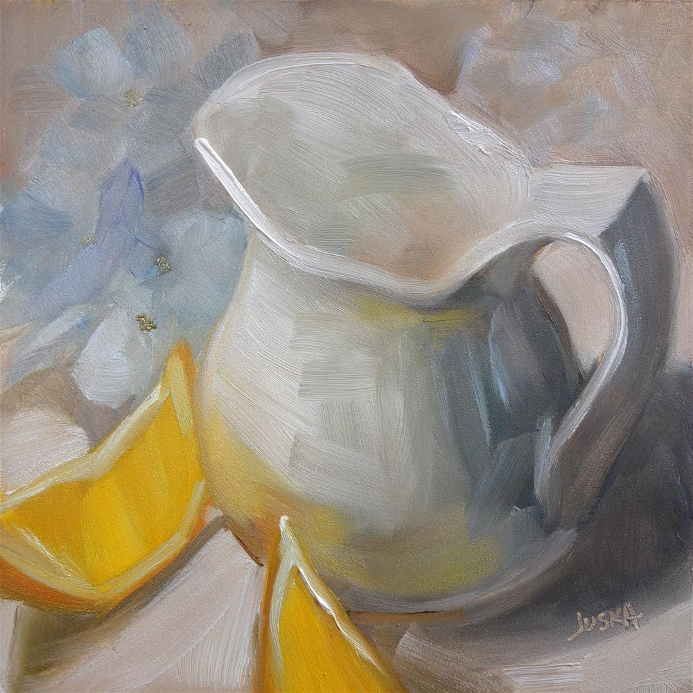 """Lemon, or Cream?"" original fine art by Elaine Juska Joseph"