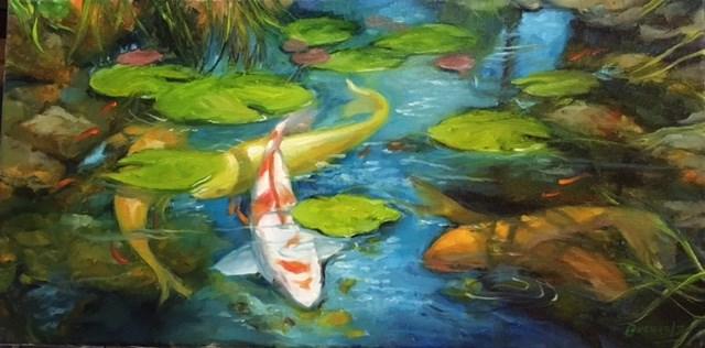 """Kohaku and Company"" original fine art by Terri Buchholz"