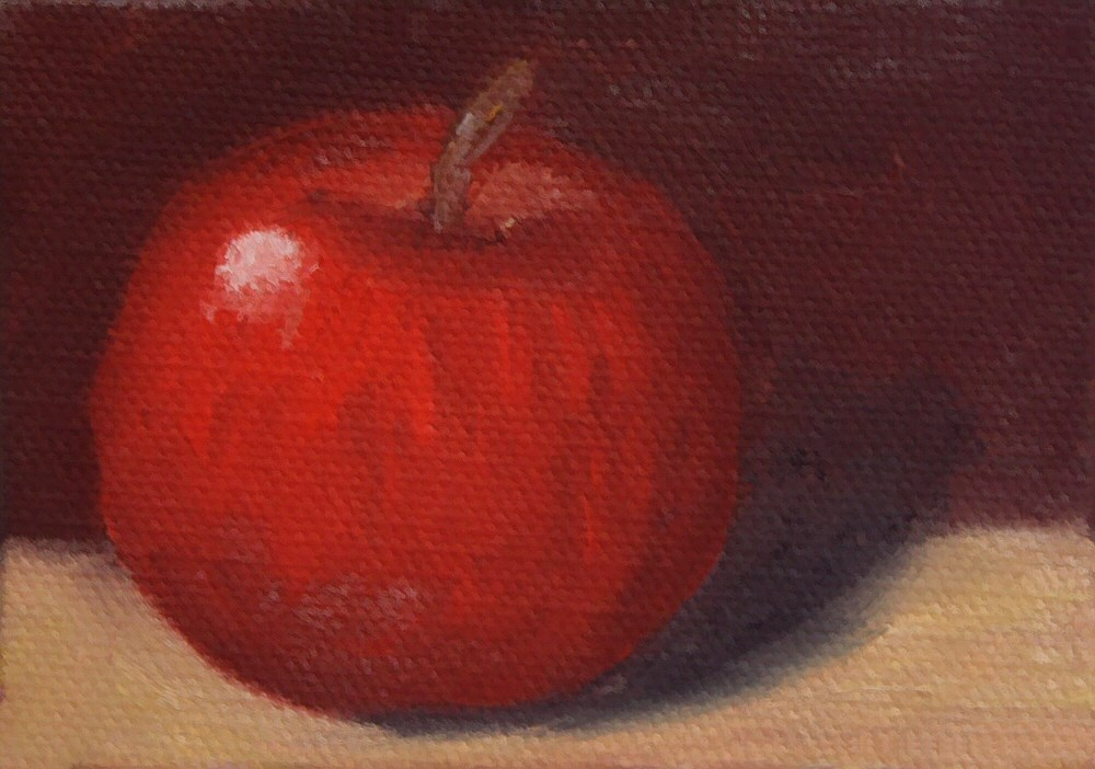 """Apple 01 ACEO"" original fine art by Dave Casey"