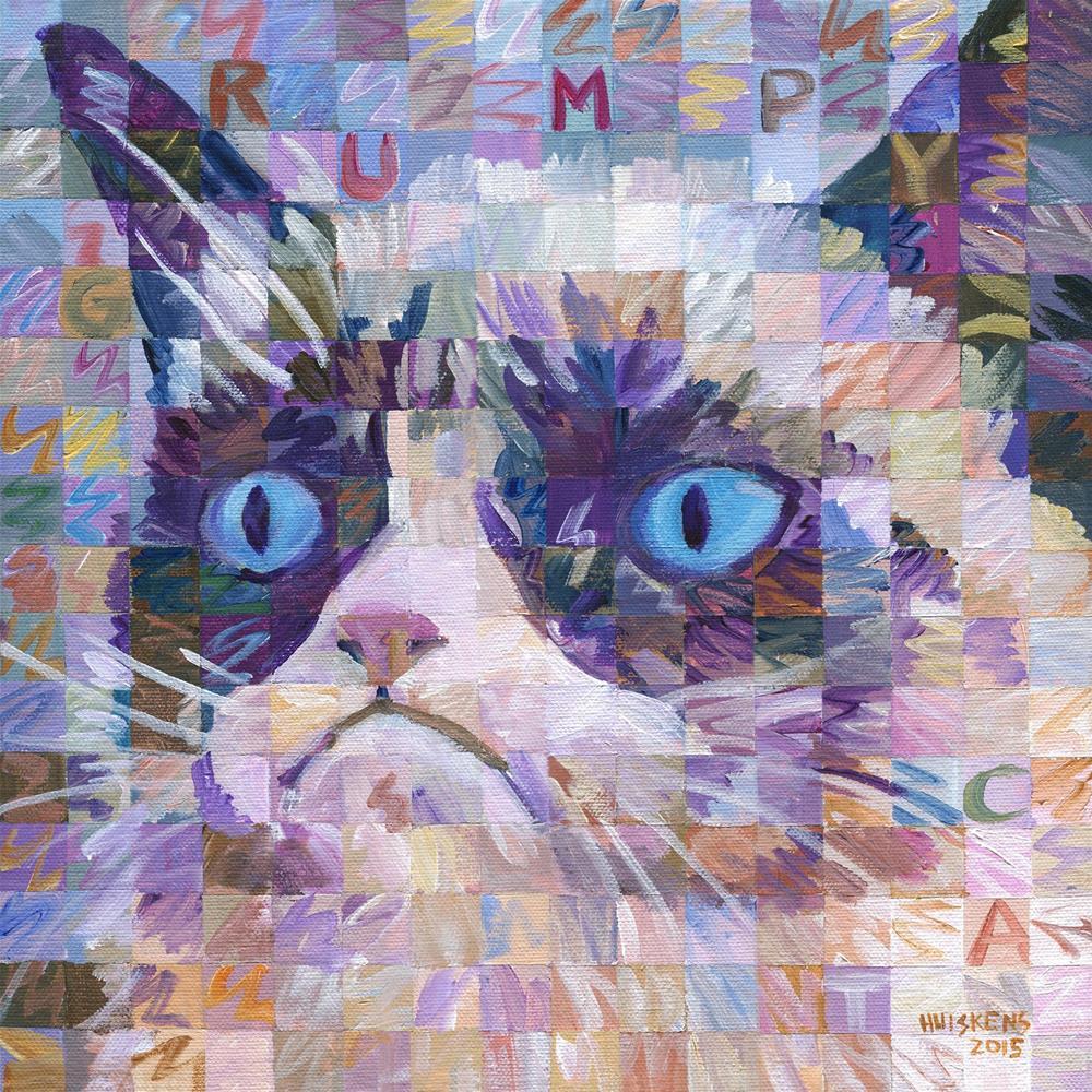 """""""Little Grumpy Cat"""" original fine art by Randal Huiskens"""